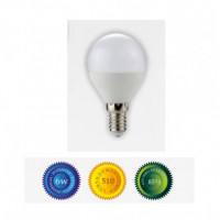 Bombilla led esferica E14 6W luz blanca