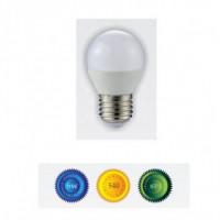 Bombilla led esferica E27 6W luz blanca