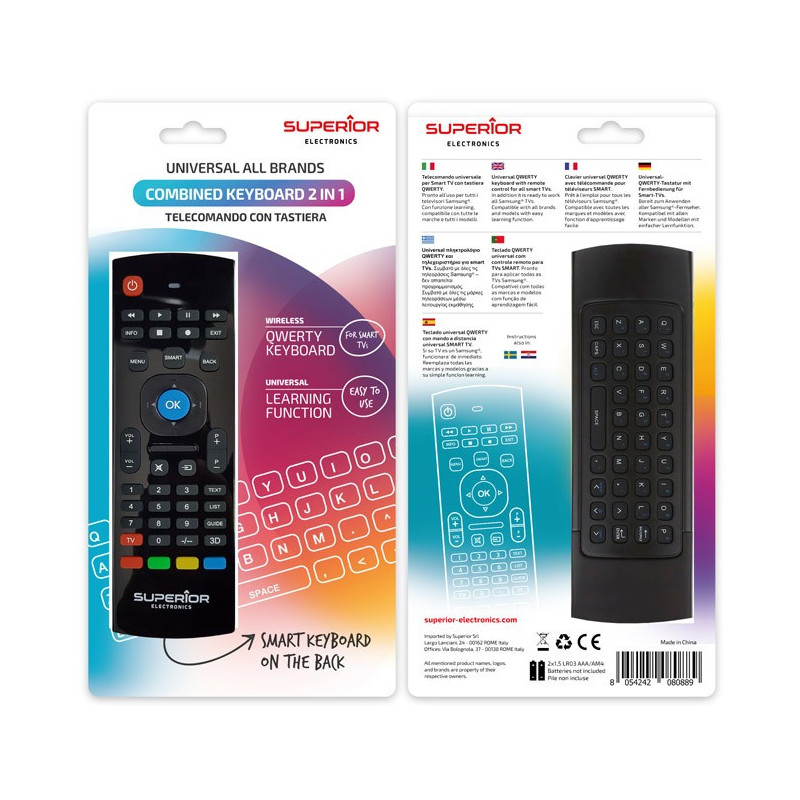 Mando a distancia TV universal Superior con teclado keyboard para Smart-tv