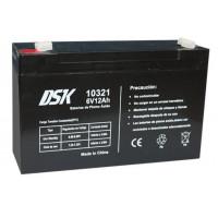 Bateria plomo 6V 12A 151X50X94