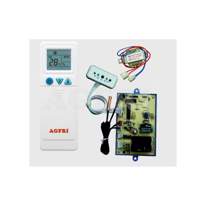 Kit universal sustitución de placa electrónica aire acondicionado con motor de 1 bobina.