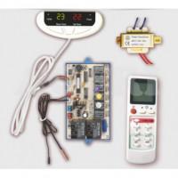 Kit universal sustitución de placa electrónica aire acondicionado con 6 relés de control.